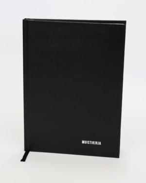 Bookcover-muistikirja musta kovakantinen