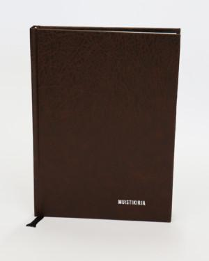 Bookcover-muistikirja ruskea